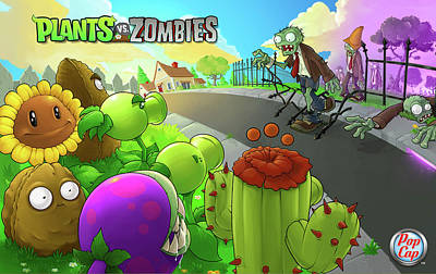 Video Games Plants Vs Zombies                  Poster