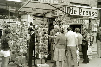 Viennese Newspaper Stand Poster