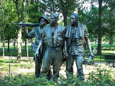 Vietnam War Memorial Statue Poster by Daniel Hebard