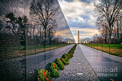 Vietnam War Memorial, Washington, Dc, Usa Poster