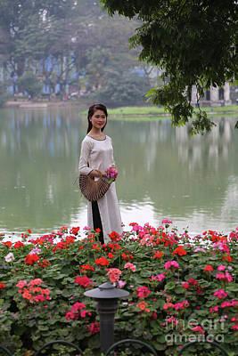 Vietnamese Beauty Hanoi  Poster by Chuck Kuhn