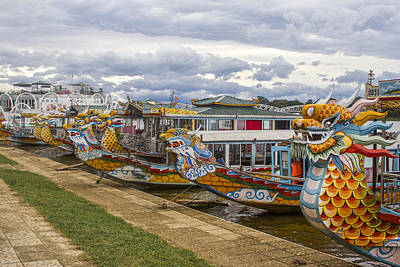 Vietnamese Dragon Boats Poster