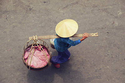 Vietnamese Worker From Above Poster