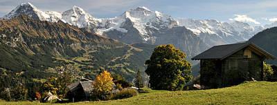 View Across Lauterbrunnen Valley Poster