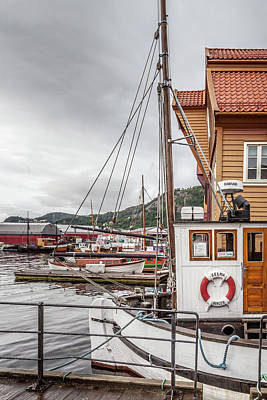 View From A Bergen Wharf Poster