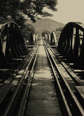 View From A Bridge - River Kwai Poster by Kelly Jones