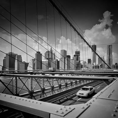 View From Brooklyn Bridge Poster by Melanie Viola