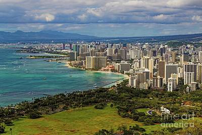 View From Diamond Head Poster by Jon Burch Photography