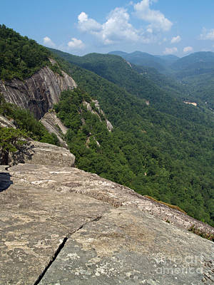 View From Exclamation Point At Chimney Rock Nc Poster