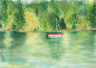 Poster featuring the painting View From Millbay Ferry by Vicki  Housel