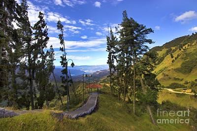 View From Portete Ecuador Poster by Al Bourassa