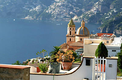 View From Praiano To Positano Poster