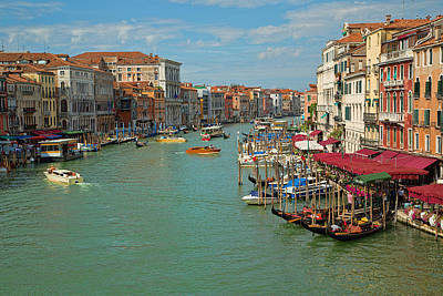 Poster featuring the photograph View From Rialto Bridge by Sharon Jones