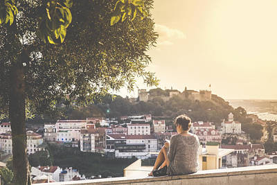 View From Senhora Do Monte Viewpoint Poster