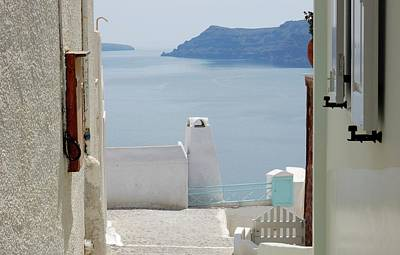 View From The Doors Of The Aegean Sea Poster