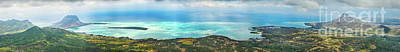 View From The Highest Peak Of Mauritius. Panorama Poster