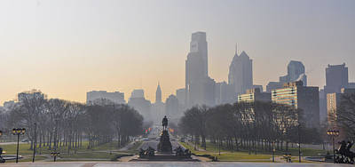 View From The Philadelphia Art Museum - Cityscape Poster by Bill Cannon