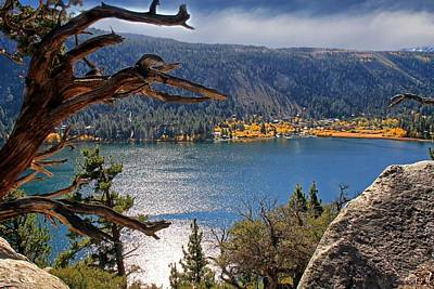 Poster featuring the photograph View From The Top Of June Lake by Donna Kennedy