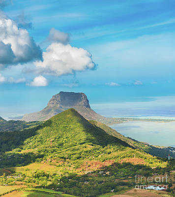 View From The Viewpoint. Mauritius.  Poster