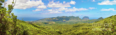 View From The Viewpoint. Mauritius. Panorama Poster