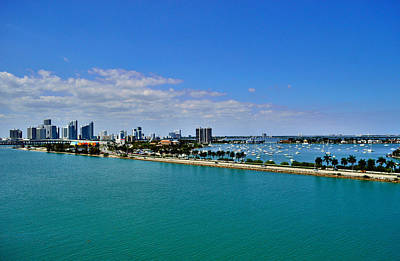 Miami View From Carnival Glory Poster