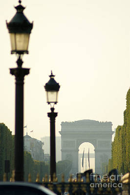 View Of Arc De Triomphe Poster