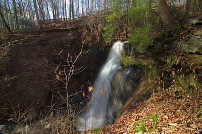 View Of Buttermilk Falls Poster by Brian Hamilton