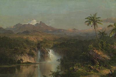 View Of Cotopaxi Poster by Frederic Edwin Church