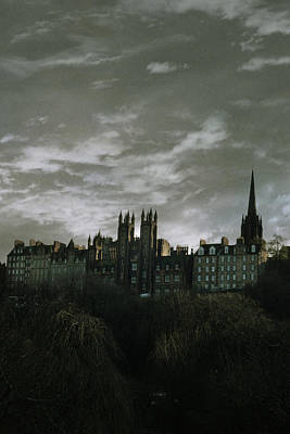 view of Edinburgh Poster by Cambion Art