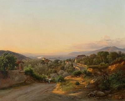 View Of Florence And The Hills To The West Of San Poster by MotionAge Designs