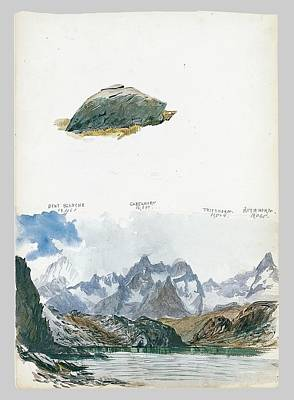 View Of Four Mountains From The Gorner Grat Poster by MotionAge Designs