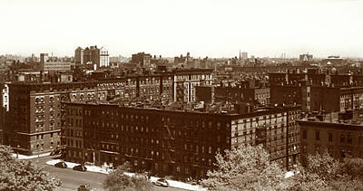 View Of Harlem In 1950 Poster by Marilyn Hunt