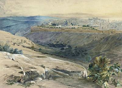View Of Jerusalem From The Mount Of Olives Poster by MotionAge Designs