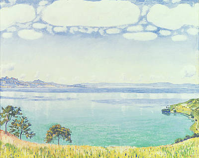 View Of Lake Leman From Chexbres Poster by Ferdinand Hodler