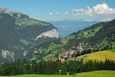 View Of Lauterbrunnen Valley Poster