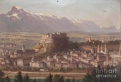 view of Salzburg Poster by MotionAge Designs