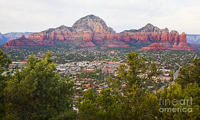Poster featuring the photograph View Of Sedona From The Airport Mesa by Chris Dutton