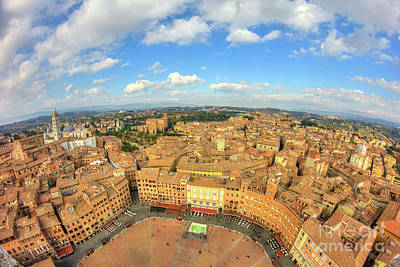 Poster featuring the photograph View Of Siena From Torre Del Mangia by Spencer Baugh