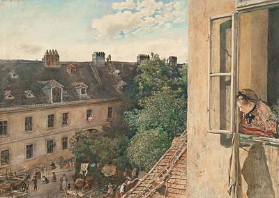 View Of The Alservorstadt Poster by Rudolf von Alt
