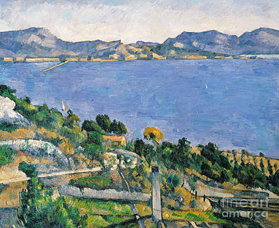 View Of The Bay Of Marseilles Poster by Paul Cezanne