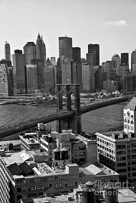 View Of The Brooklyn Bridge Poster by Madeline Ellis