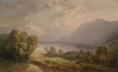 View Of The Burgenstock On Lake Lucerne Poster by Celestial Images