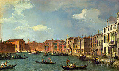 View Of The Canal Of Santa Chiara Poster by Canaletto