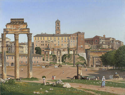 View Of The Forum In Rome Poster
