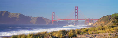 View Of The Golden Gate Bridge, San Poster by Panoramic Images