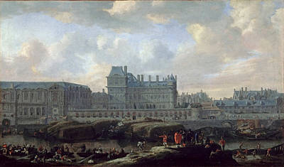 View Of The Old Louvre And Small Bourbon  Poster by MotionAge Designs