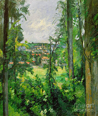 View Of The Outskirts Poster by Paul Cezanne