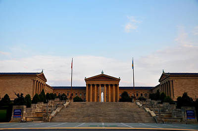 View Of The  Philadelphia Museum Of Art Poster by Bill Cannon