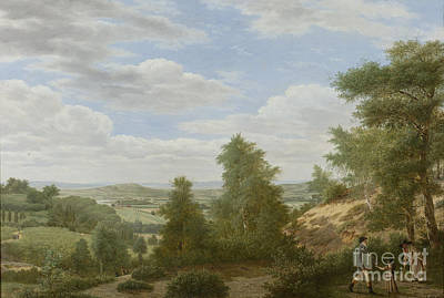 View Of The Plain Of Montmorency In St Leu Poster by Celestial Images