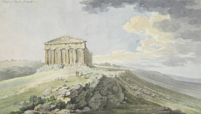 View Of The Temple Of Concord At Agrigento Poster
